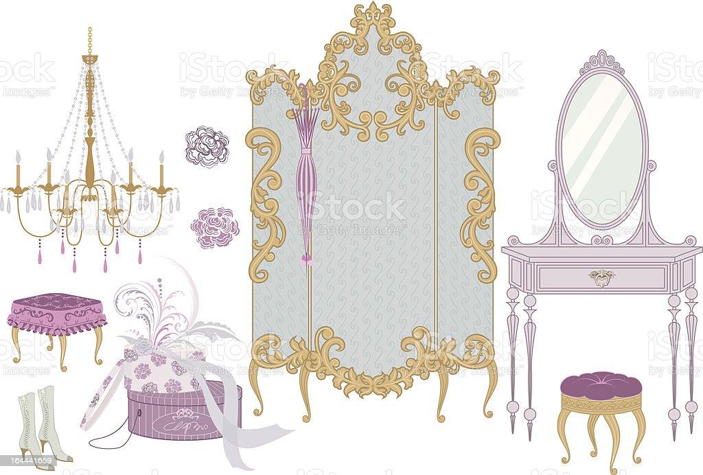Boudoir vector art illustration