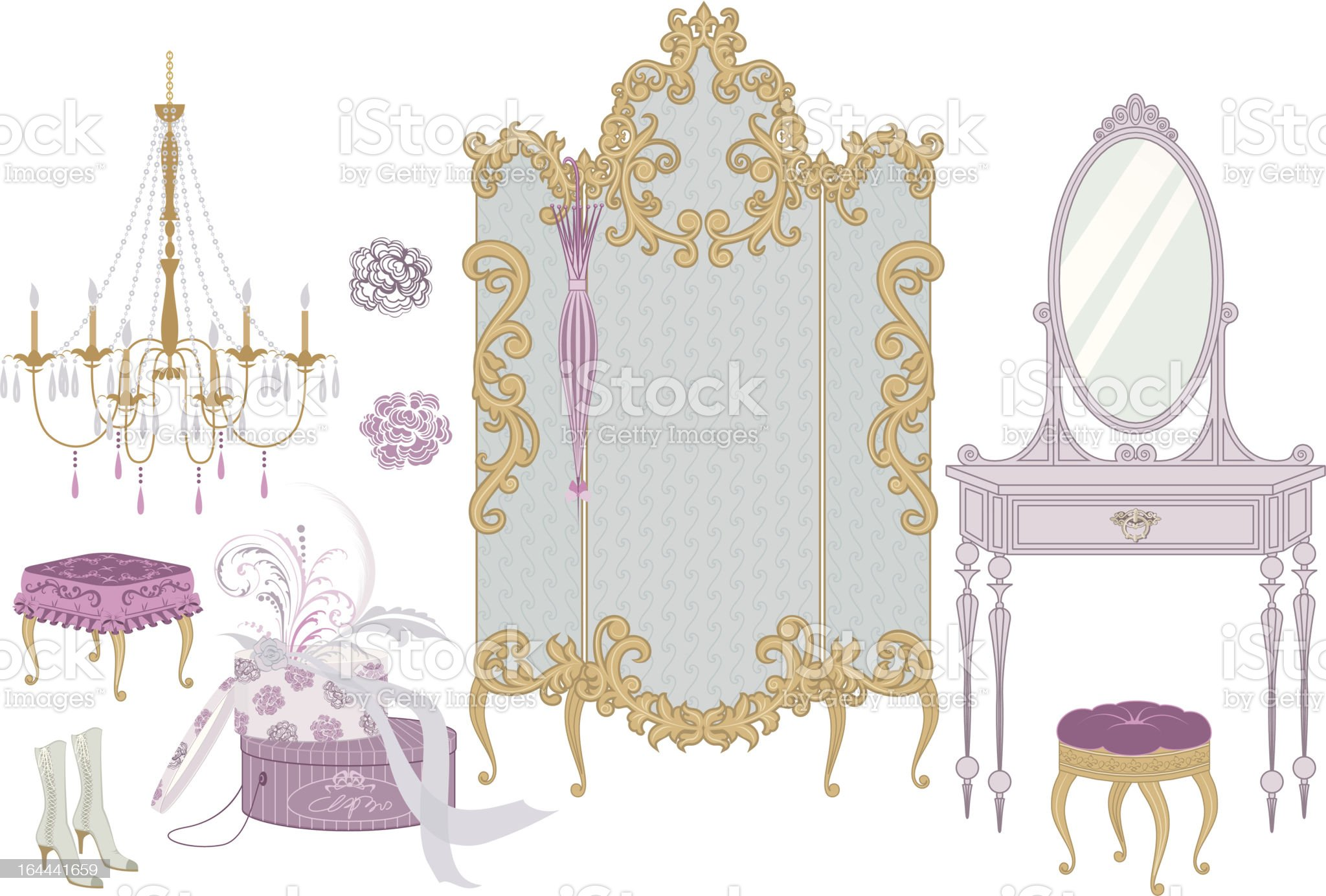 Boudoir royalty-free stock vector art