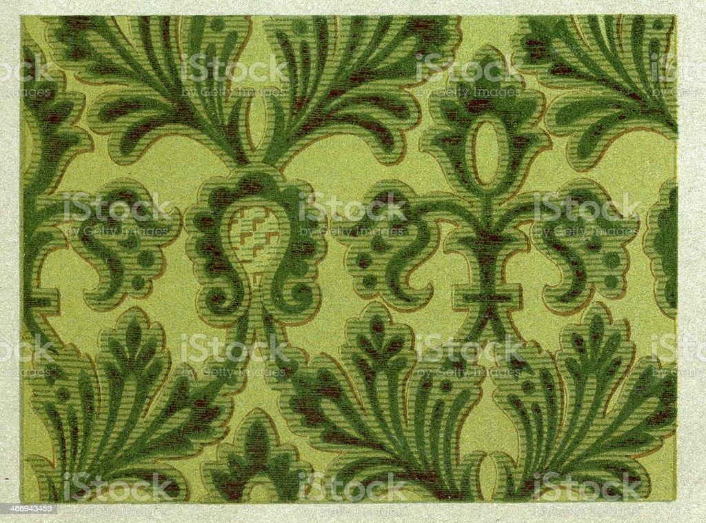 Bound Branch Pattern - 16th Century royalty-free stock vector art