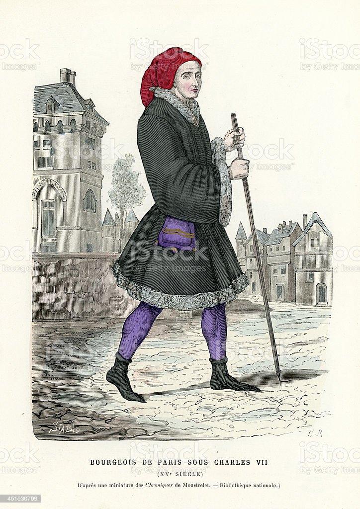 Bourgeoisie of Paris vector art illustration