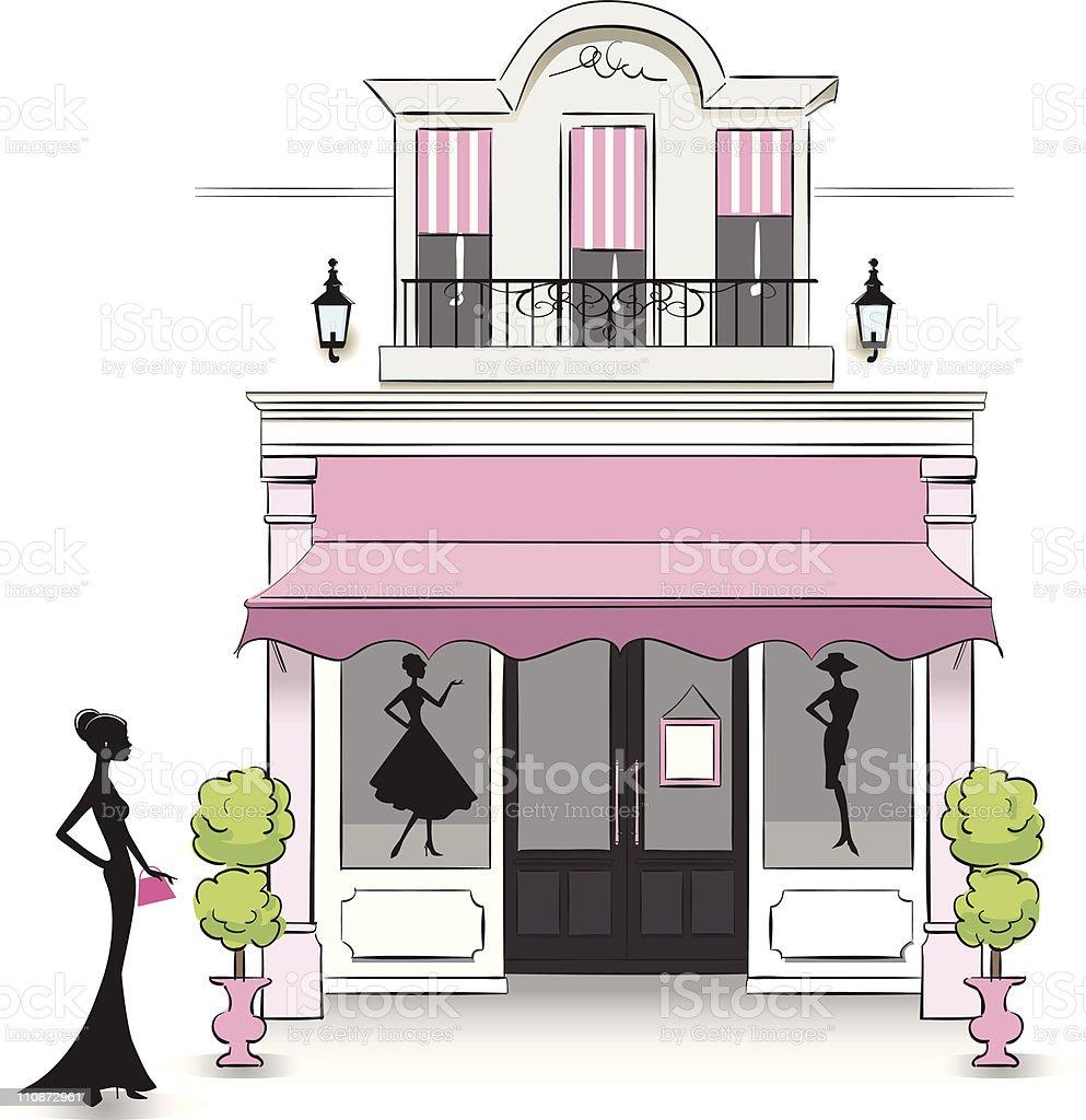 Boutique vector art illustration