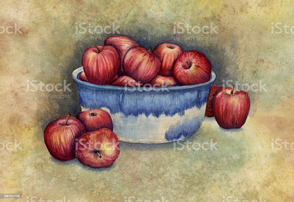 Bowl of Apples royalty-free stock vector art