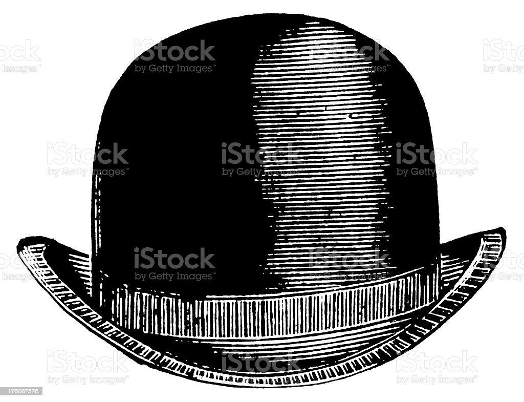 Bowler hat   Antique Design Illustrations vector art illustration
