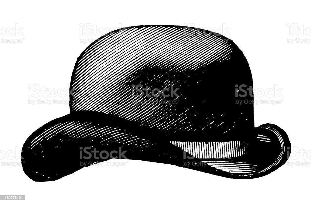 Bowler hat | Antique Design Illustrations royalty-free stock vector art