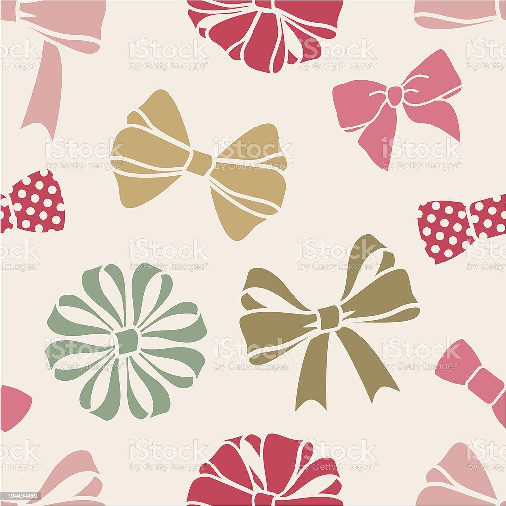 bows-pattern vector art illustration