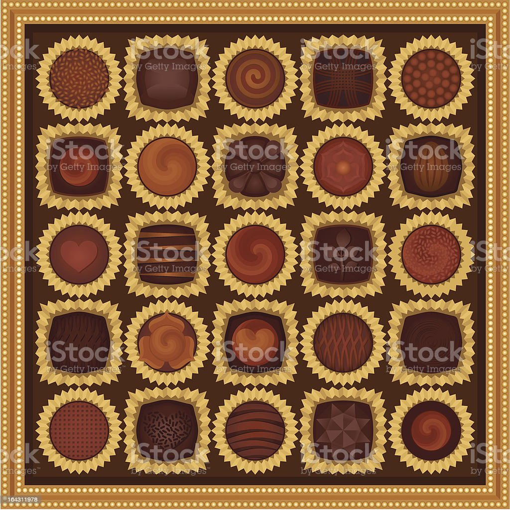 Box of chocolates royalty-free stock vector art