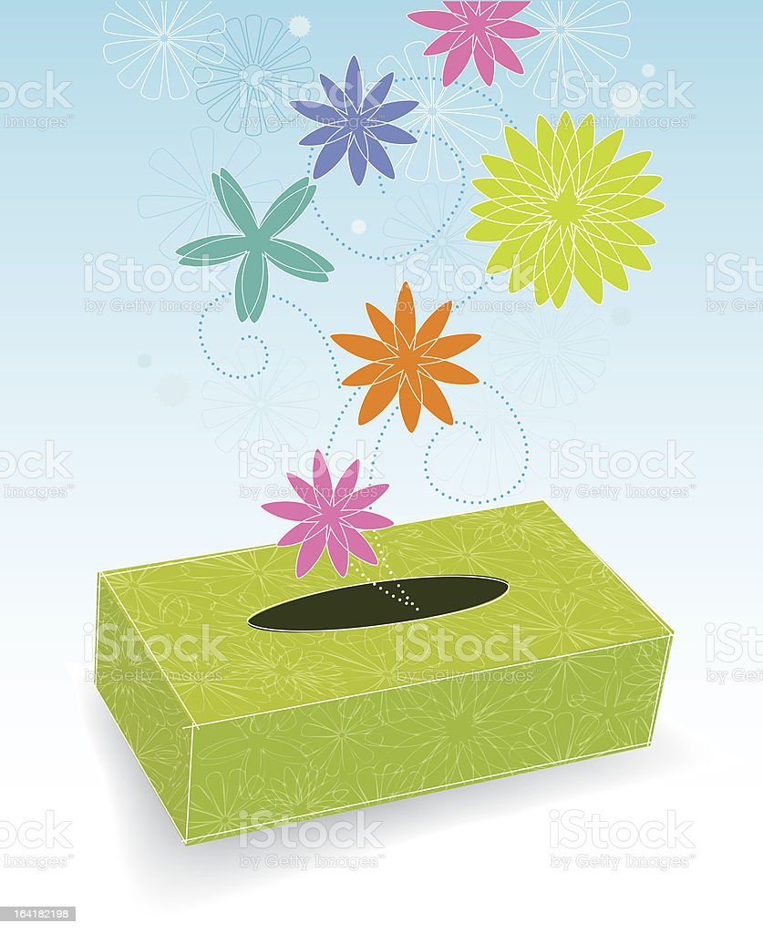 Box of Flowery Sneezes royalty-free stock vector art