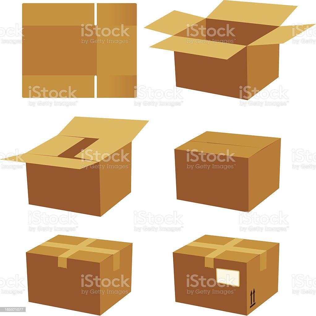 box process royalty-free stock vector art