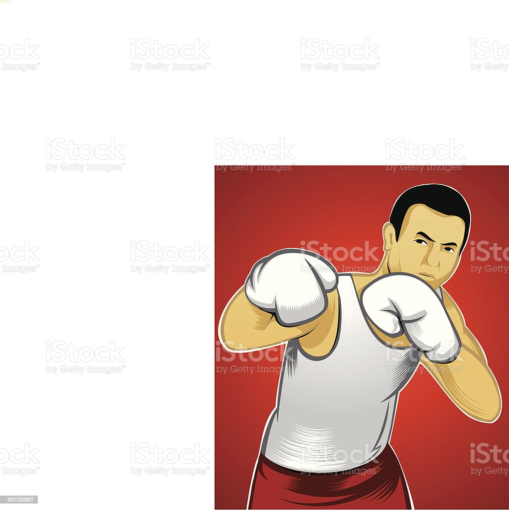 Boxer / Attack vector art illustration