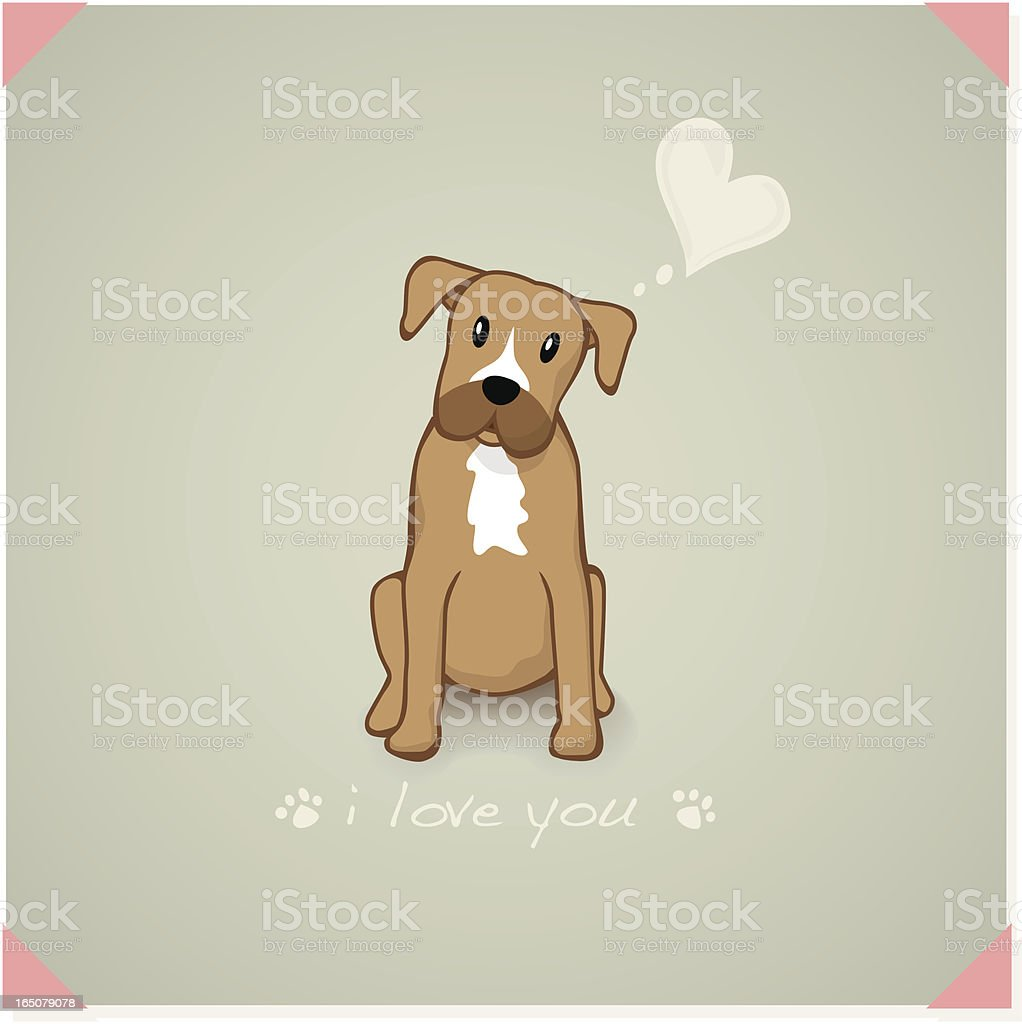 Boxer vector art illustration