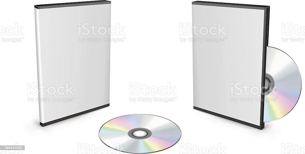 DVD boxes vector art illustration