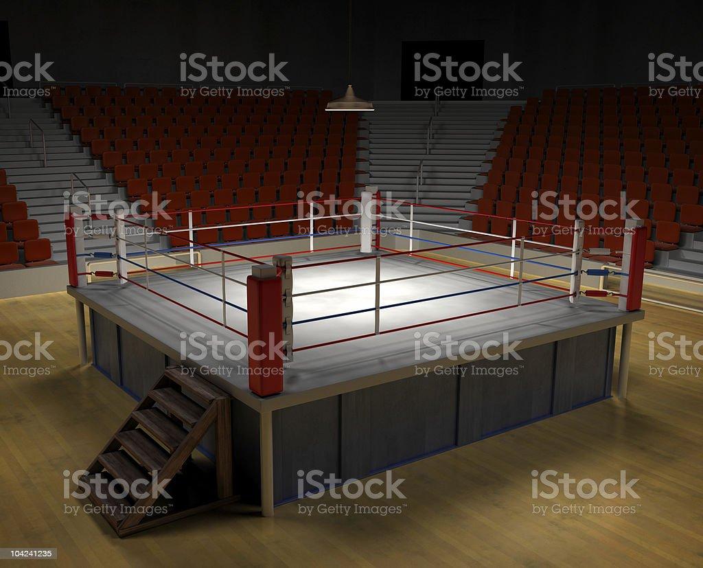 Boxing Arena vector art illustration