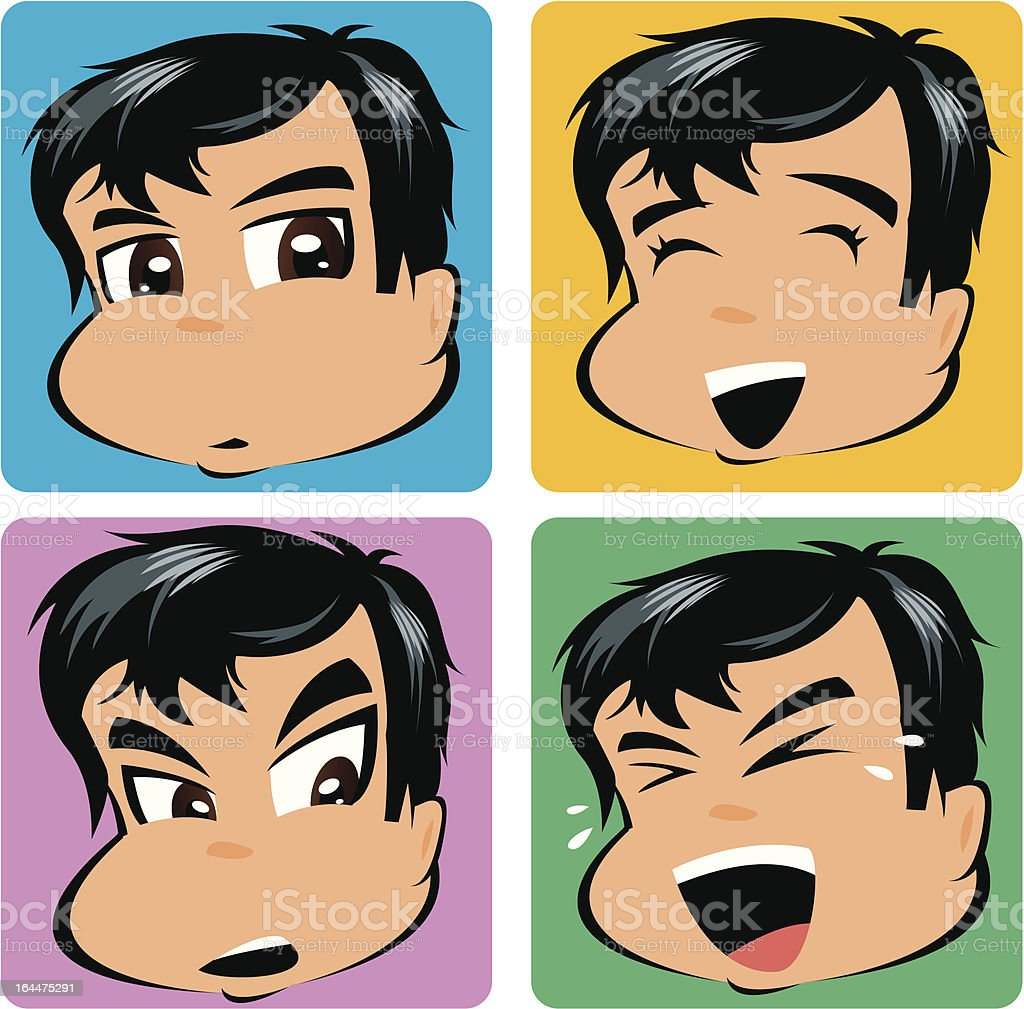 Boy Cartoon royalty-free stock vector art