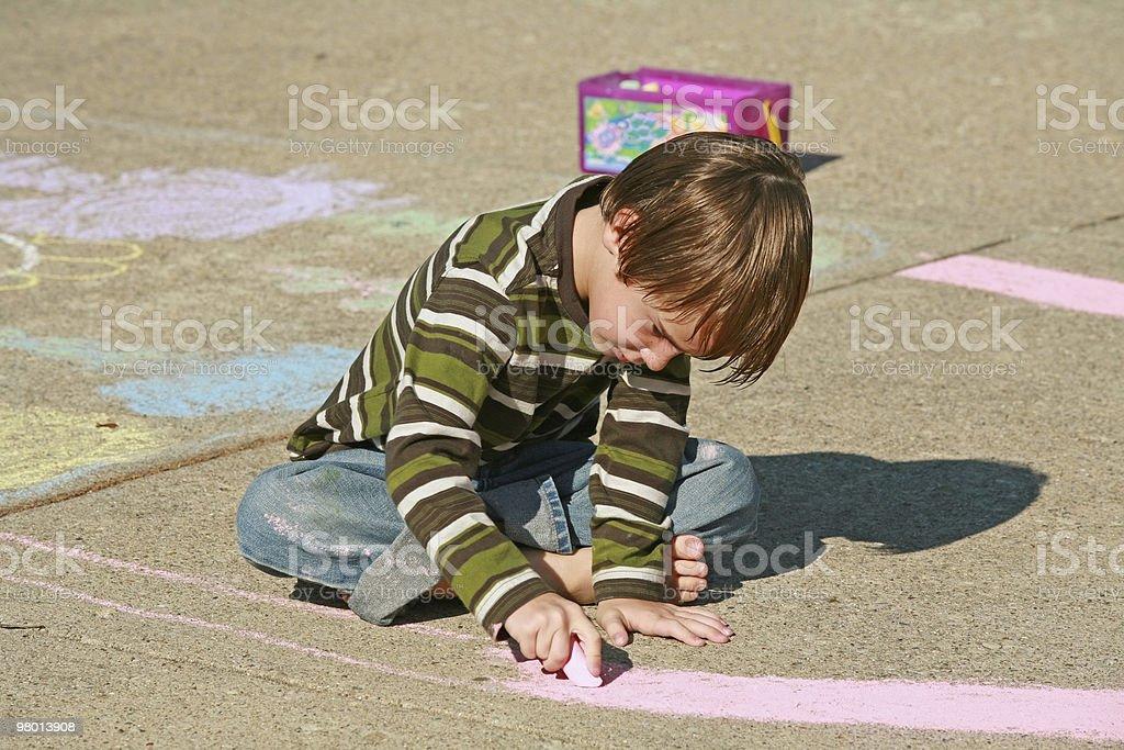 Boy Coloring vector art illustration