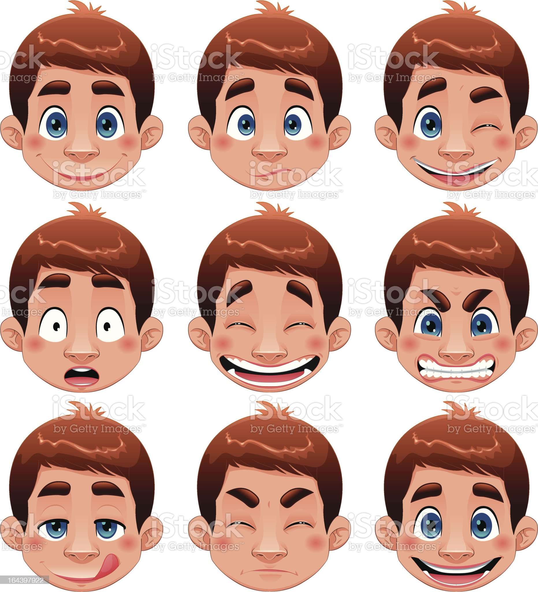 Boy Expression royalty-free stock vector art