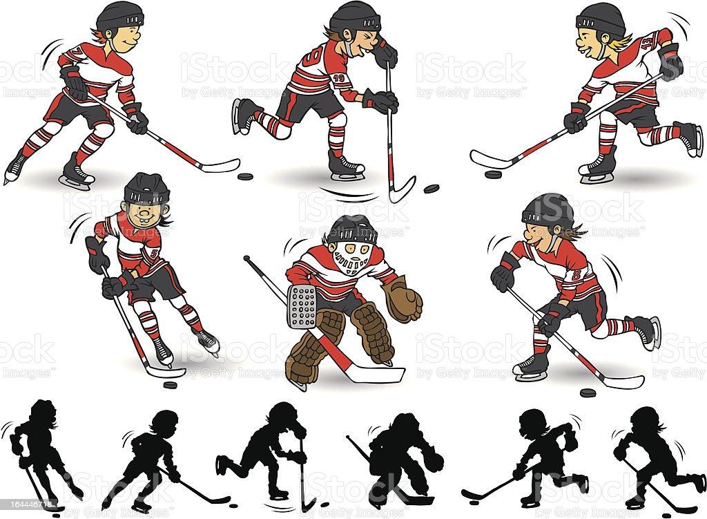 Boy hockey character royalty-free stock vector art