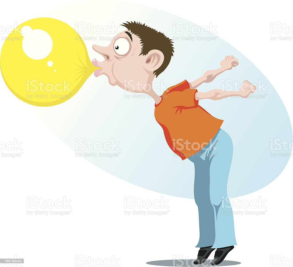 Boy with chewing gum royalty-free stock vector art