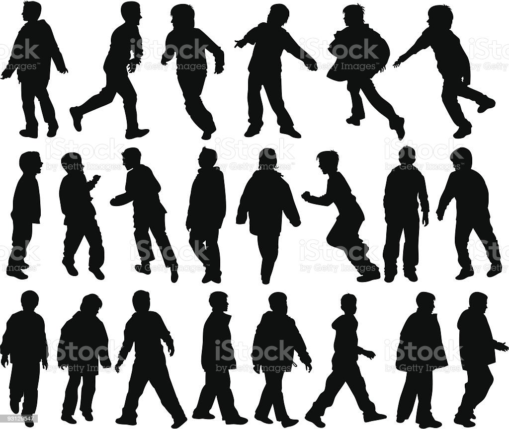 Boys moving royalty-free stock vector art