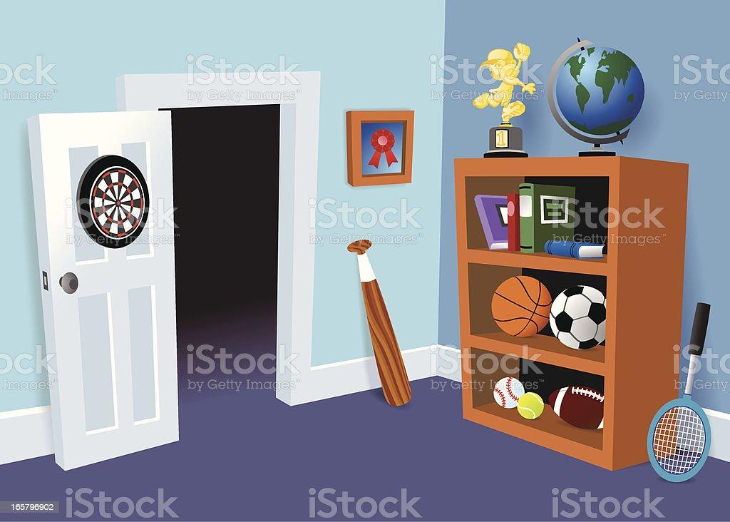 Boy's Room vector art illustration