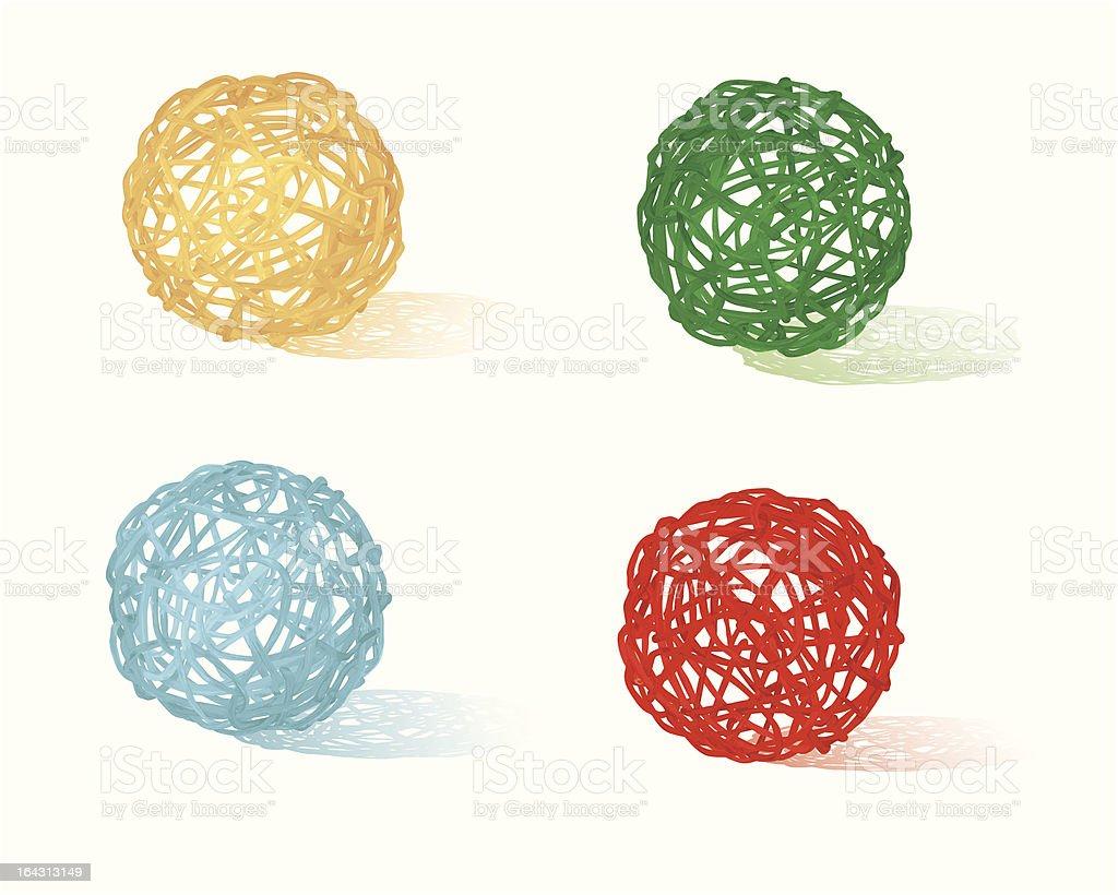 braided balls royalty-free stock vector art