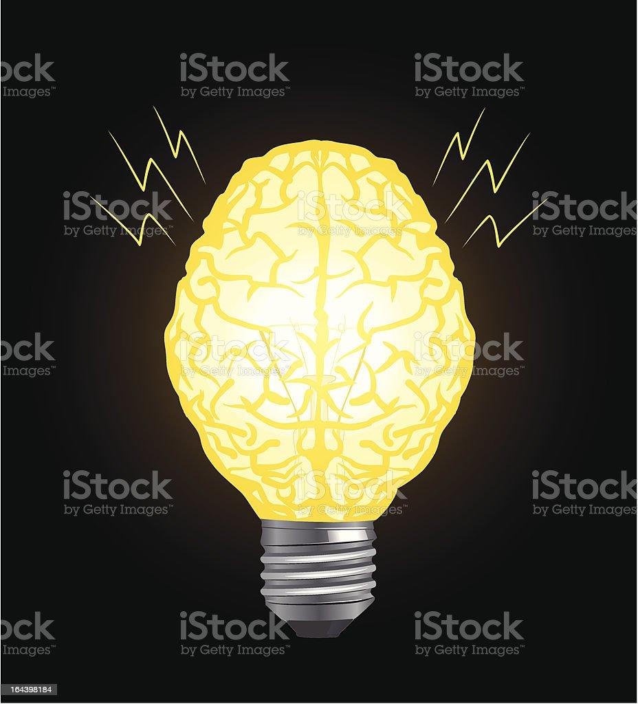 brain and lamp royalty-free stock vector art