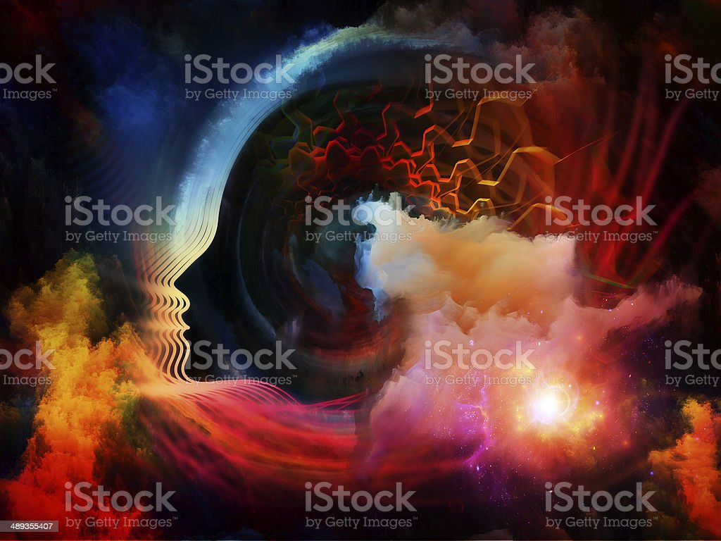 Brain Fog vector art illustration