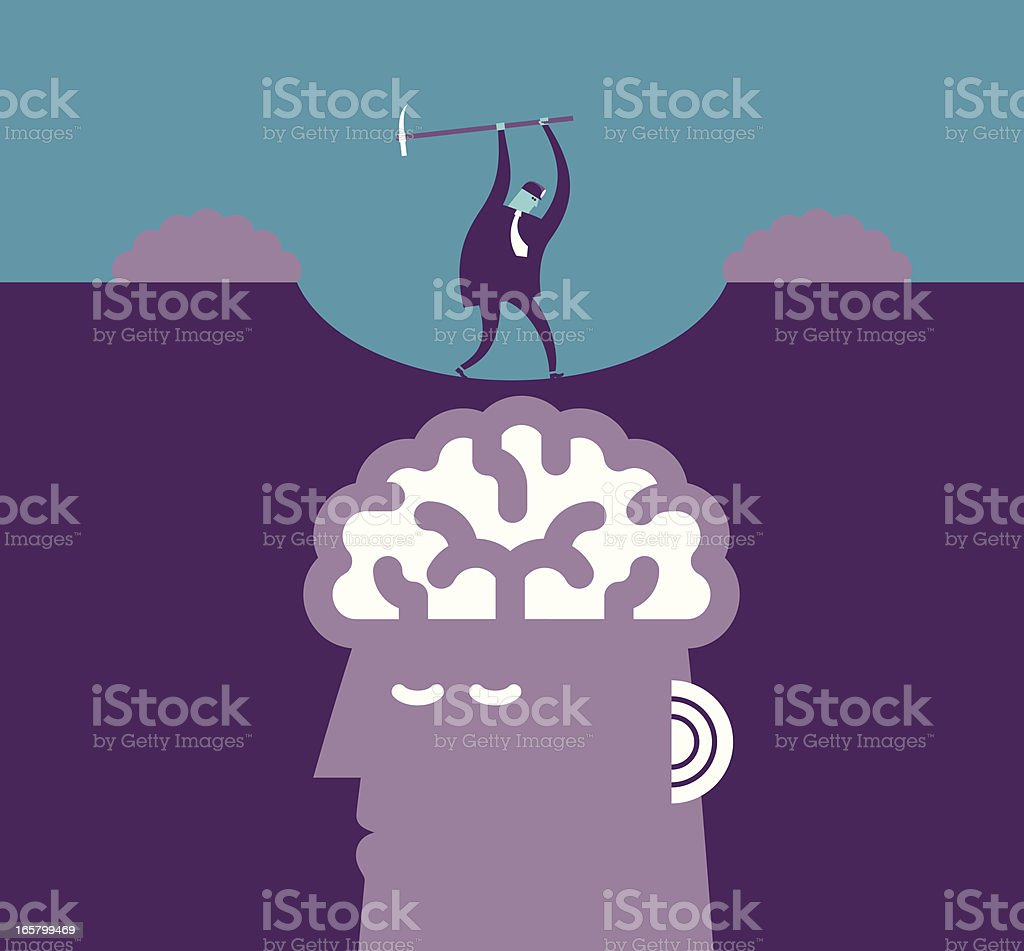 Brain Mining Concept royalty-free stock vector art