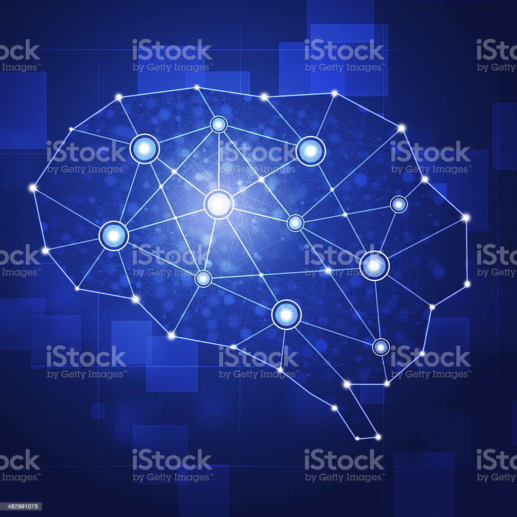 Brain Net royalty-free stock vector art