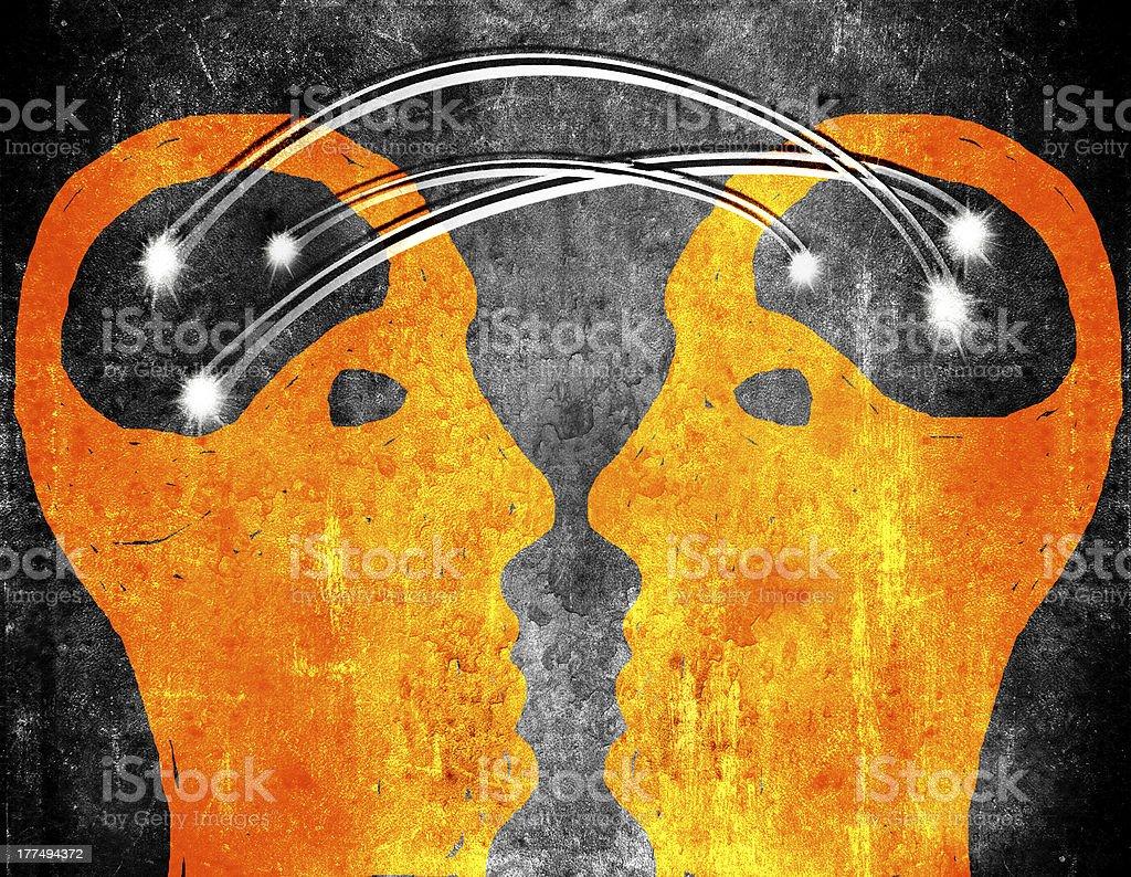 brain storming concept illustration royalty-free stock vector art