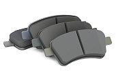 Brake pads, 3D rendering