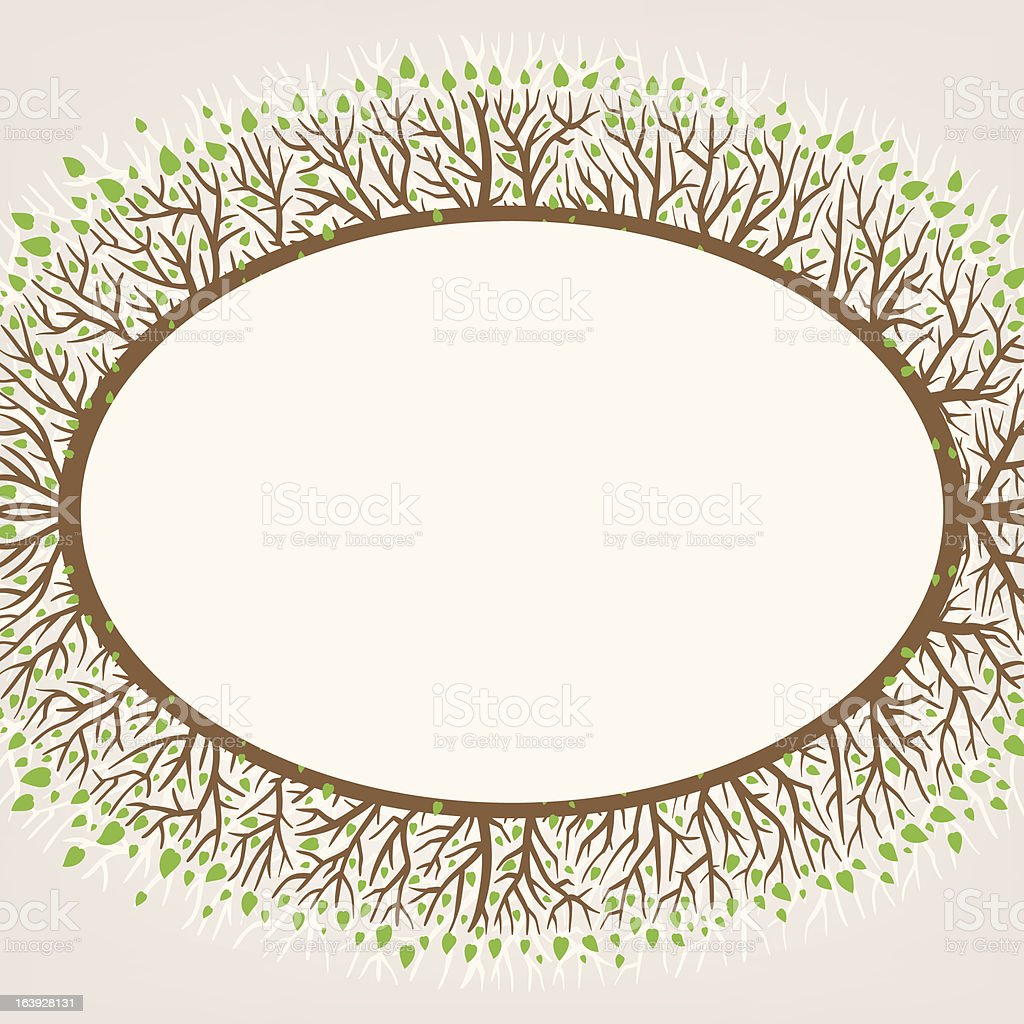 branches frame royalty-free stock vector art
