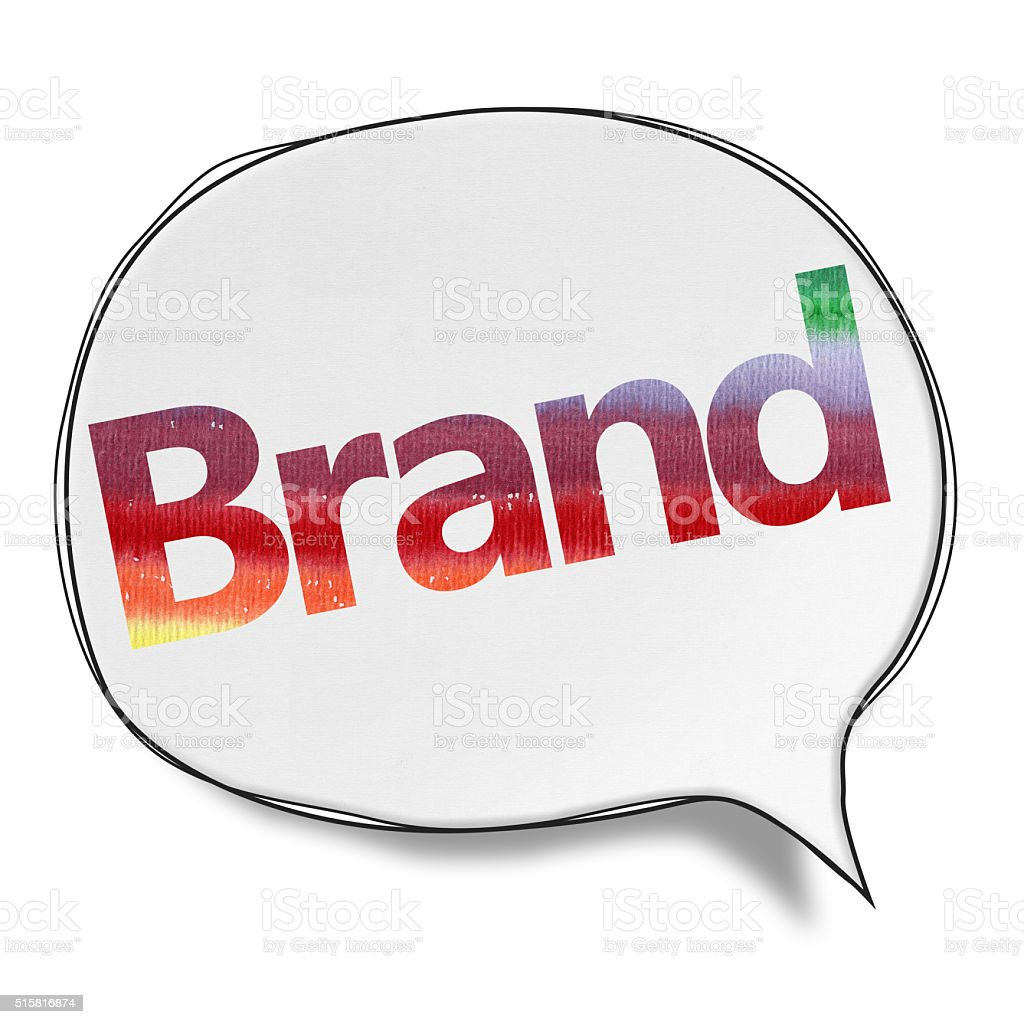Brand- Speech Bubbles (Clipping Path) vector art illustration