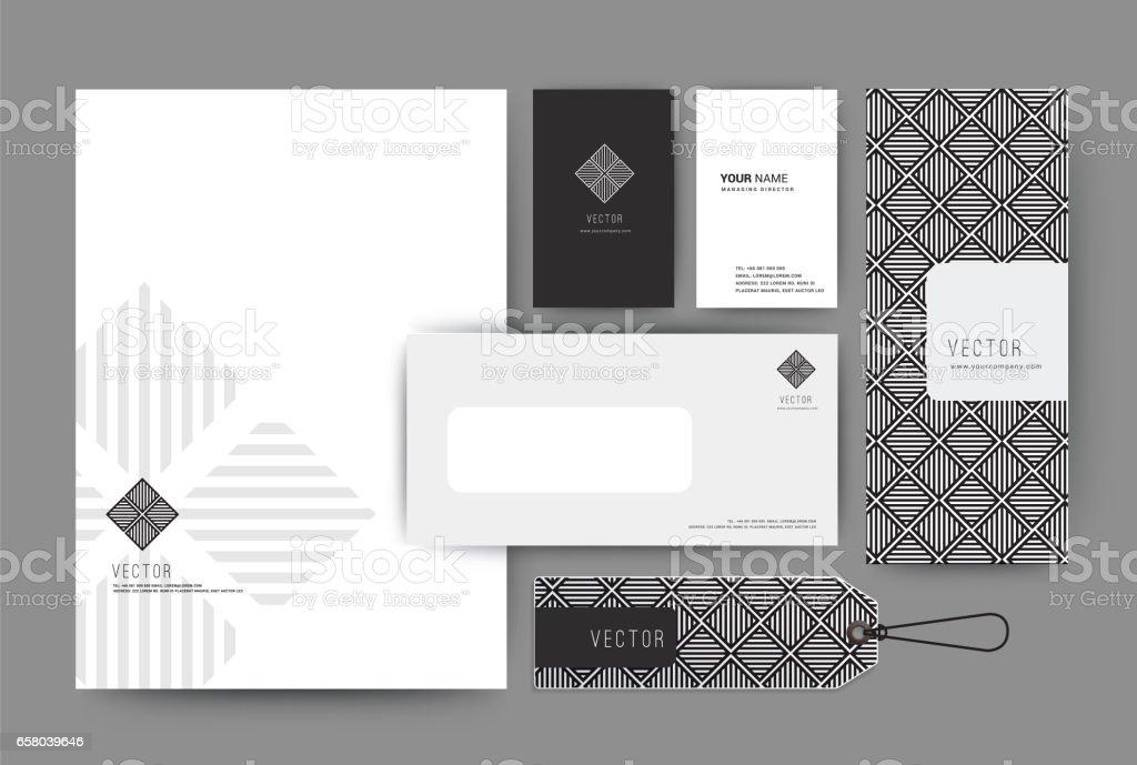 Branding identity template corporate company design, Set for business hotel, resort, spa, luxury premium logo, vector illustration vector art illustration