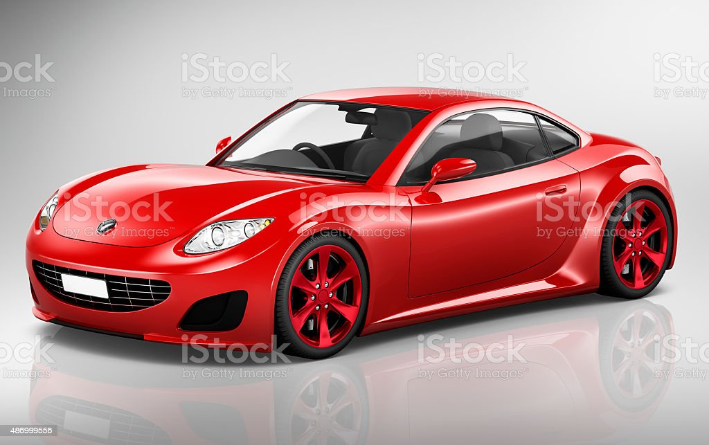 Brandless Car Automobile Vehicle Concept vector art illustration