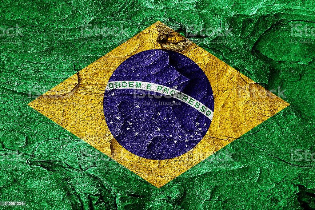 Brasil flag vector art illustration