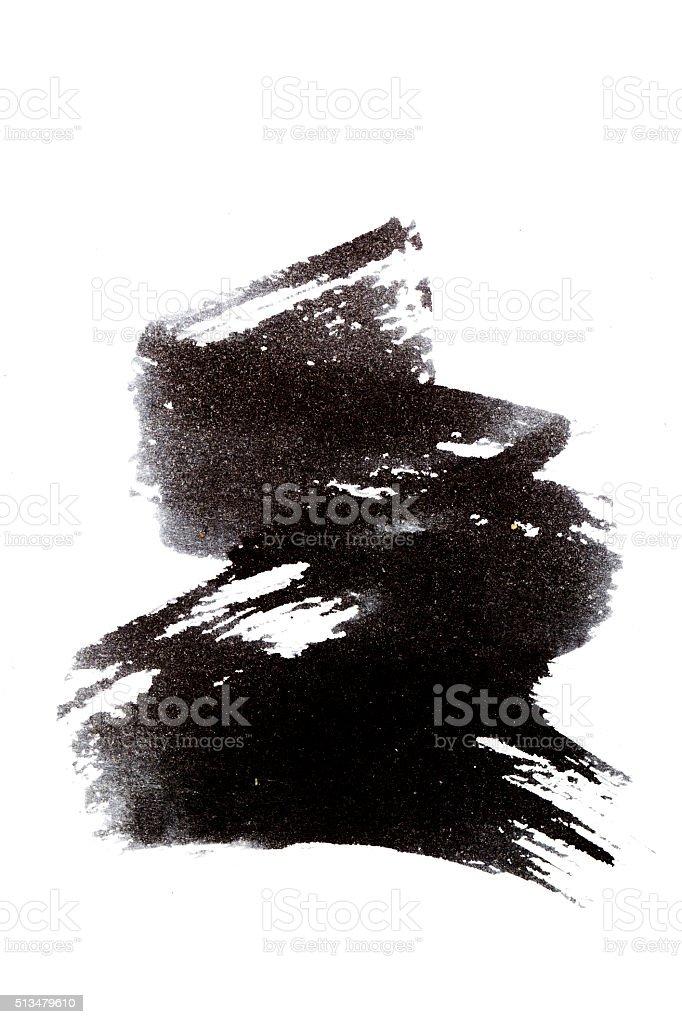Brazil black brush stroke vector art illustration