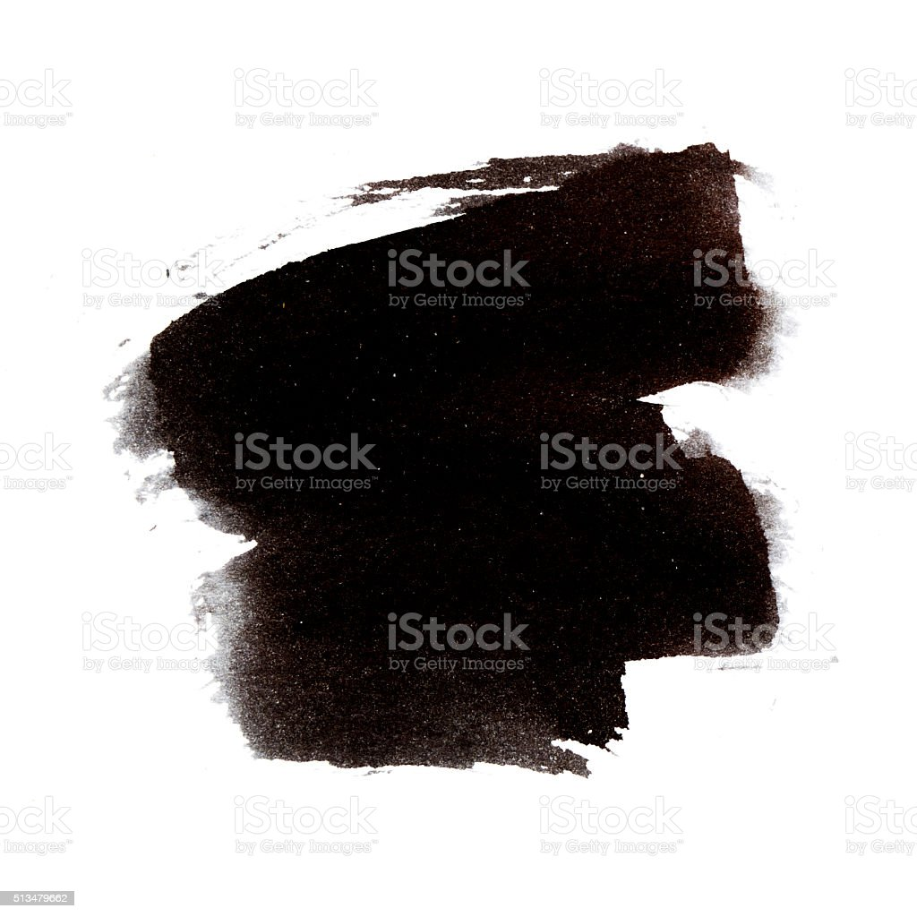 Brazil black brush stroke vector art illustration