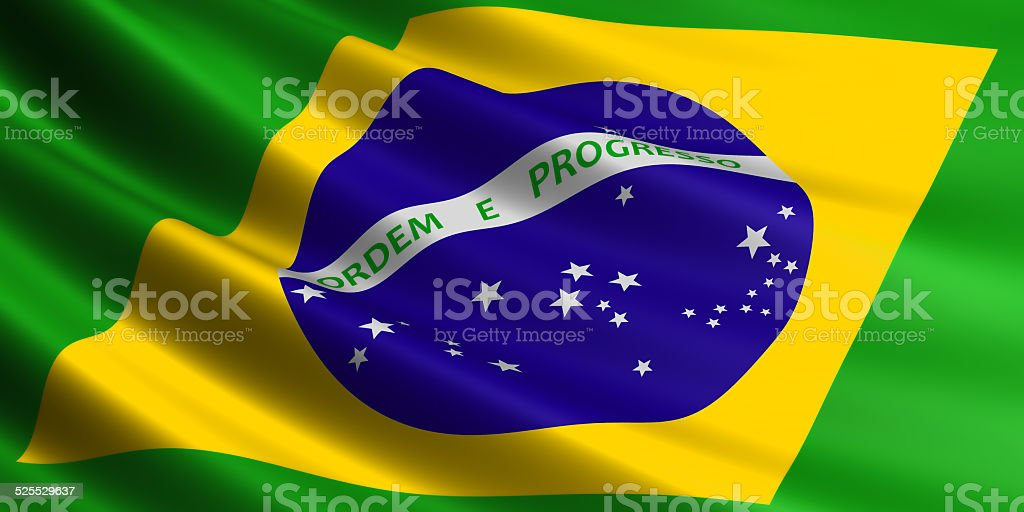 Brazil flag. royalty-free stock vector art