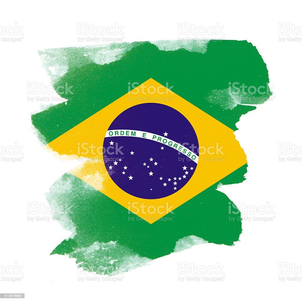 Brazil grunge brush stroke vector art illustration