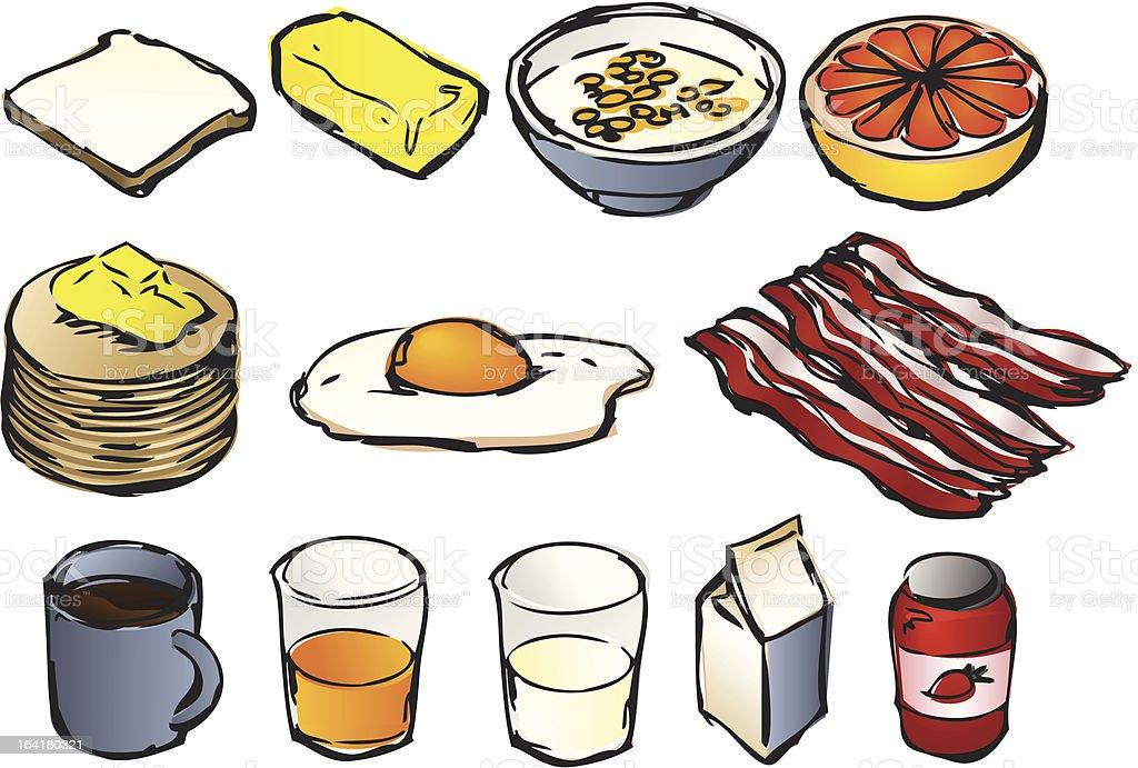 Breakfast clipart royalty-free stock vector art