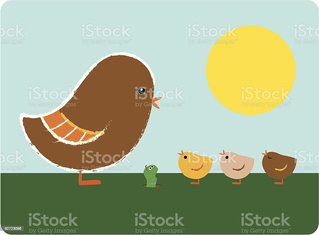 breakfast for the birds royalty-free stock vector art