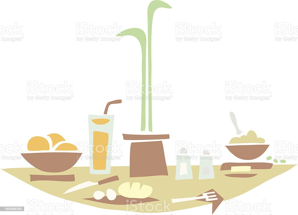 Breakfast Table royalty-free stock vector art
