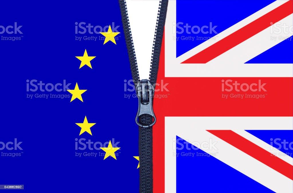 Brexit Zipper vector art illustration