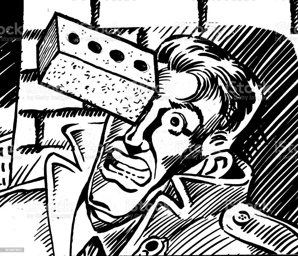 Brick Eye vector art illustration