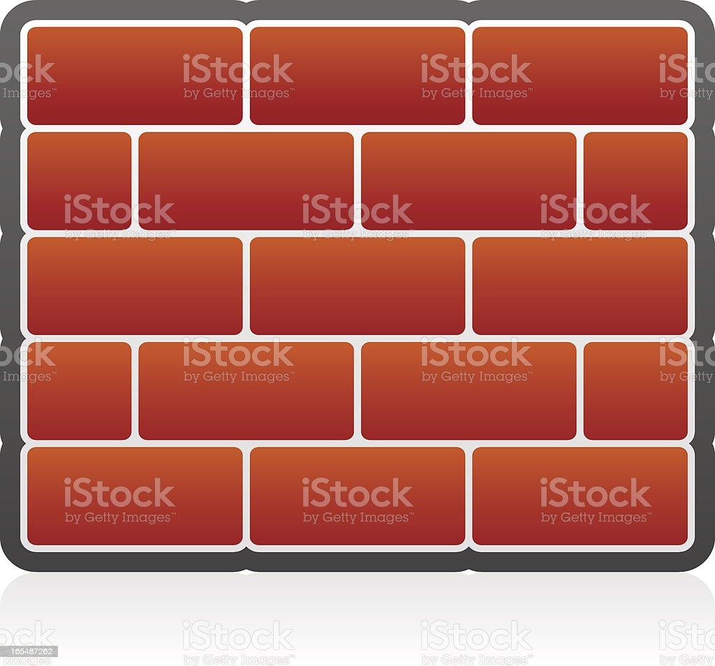 Brick Wall Icon royalty-free stock vector art