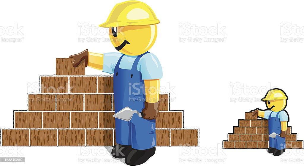 Bricklayer dude royalty-free stock vector art