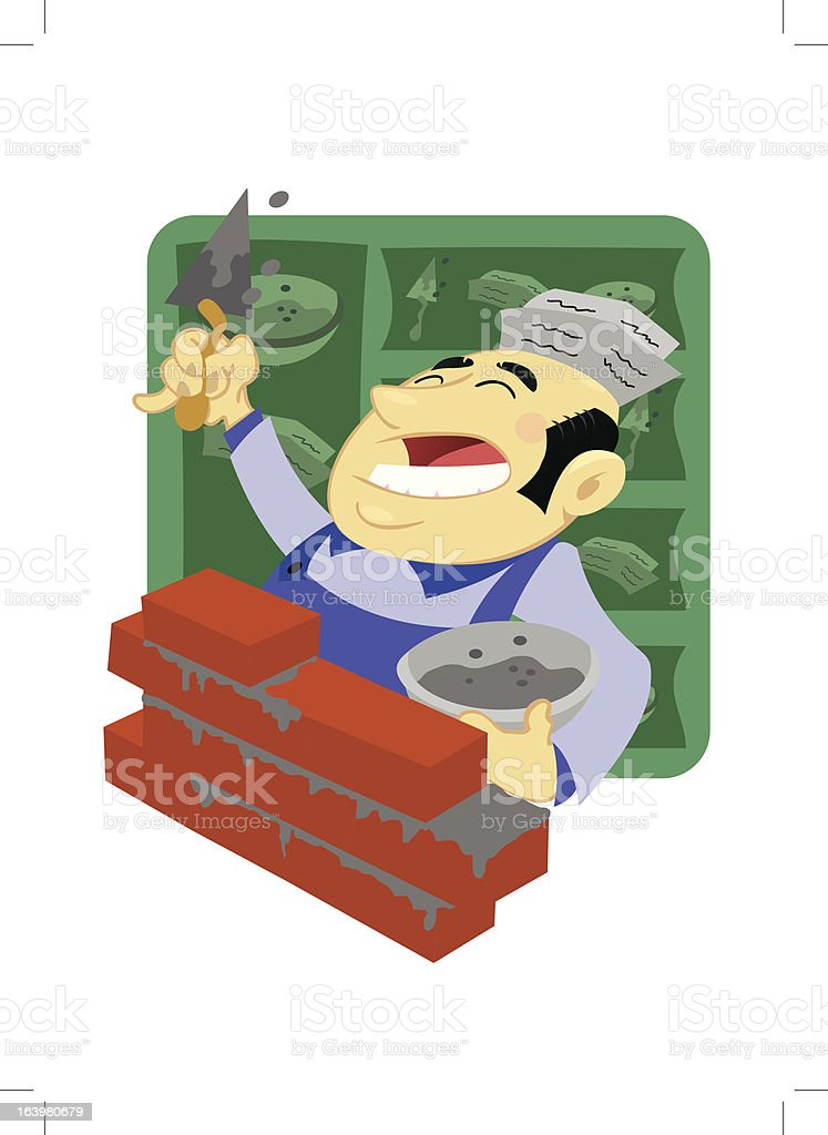Bricklayer royalty-free stock vector art