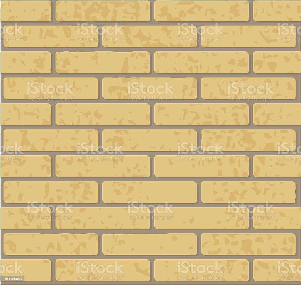Bricks - Yellow royalty-free stock vector art