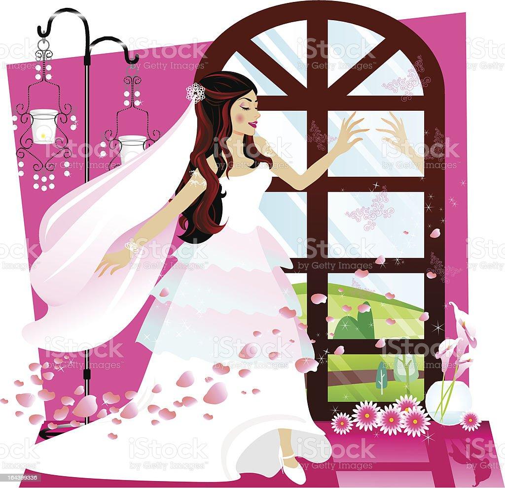 Bridal vector art illustration