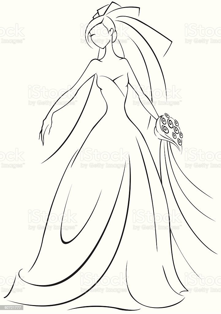 Bride royalty-free stock vector art